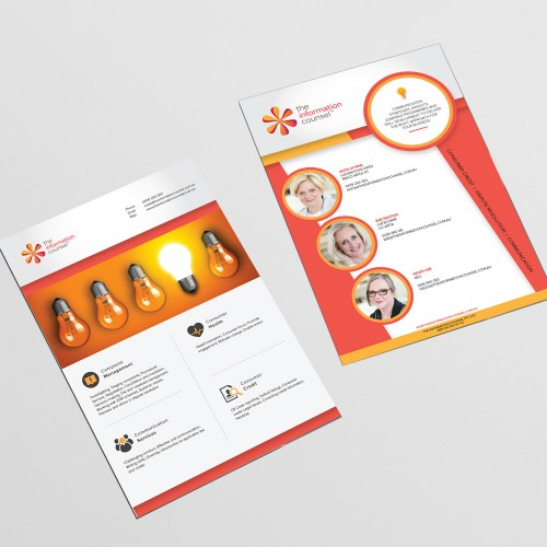 A5 flyer brochure graphic design and print