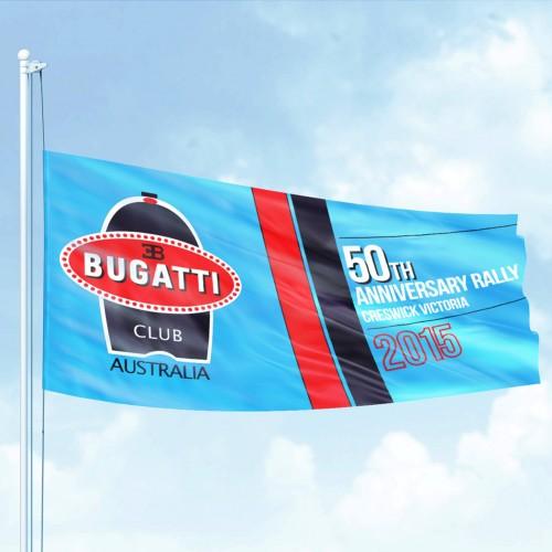 Bugatti club flag graphic design