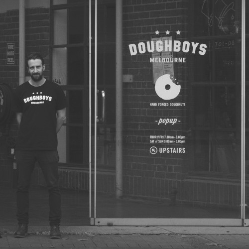 Doughboys Window sicker design print and installation