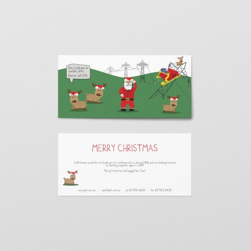 Business Corporate Christmas Xmas Card Design