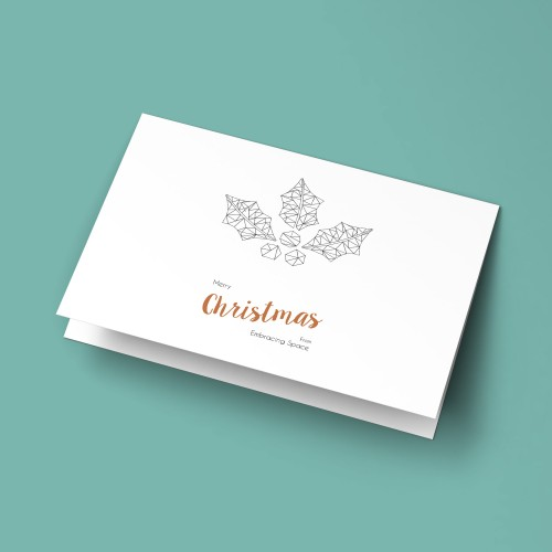 Business Christmas Card Design and Print