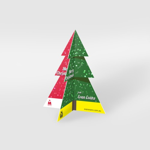 Free Standing PVC Christmas Card Design