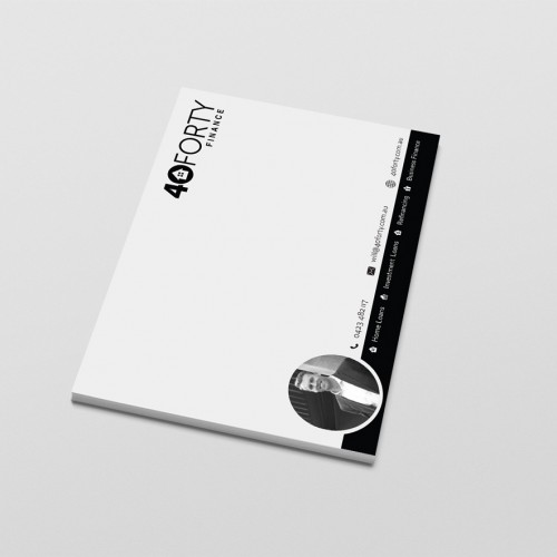 Notepad design and print