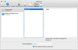 How to implement a HTML email signature to mac mail