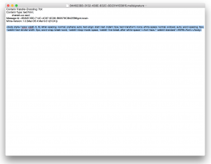 Mac Mail HTML email signautre