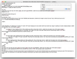 Mac Mail html signature